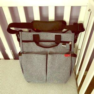 Skip Hop Duo Signature Grey Diaper Bag